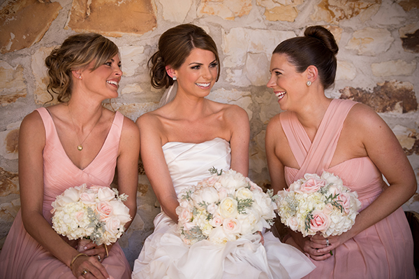 Bridesmaids in Blush | Scott Campbell Photography | Rustic Blush Wedding