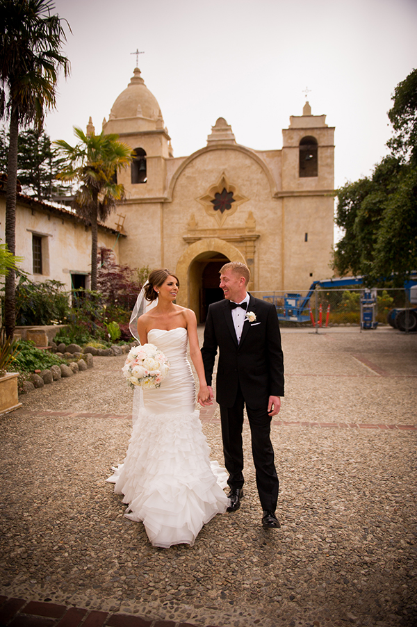 Carmel Mission Wedding | Scott Campbell Photography | Rustic Blush Wedding