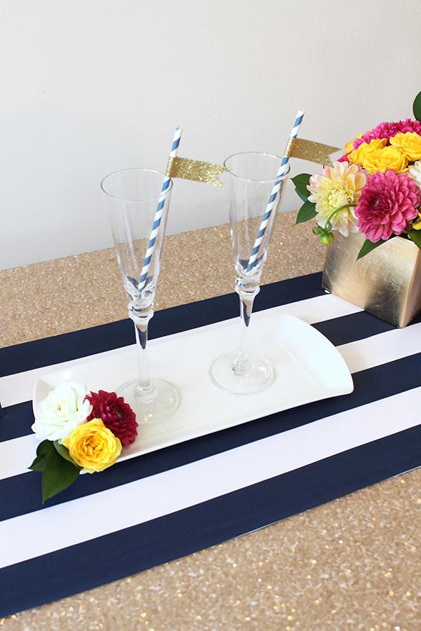 Preppy Kate Spade Event Inspiration  Introducing Spade Stripe - Kate spade table linens