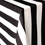 Spade Stripe Black and White