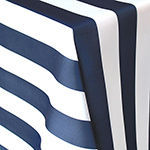 Spade Stripe Navy and White