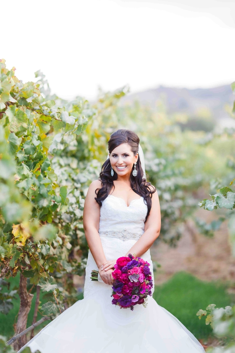 A Purple and Fuchsia Modern Glam Winery Wedding | Blueberry Phot