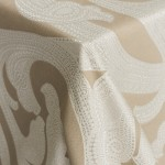 Ankara Taupe Patterned Linens